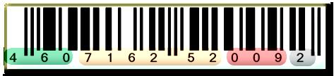 Штрих код EAN-13 международный