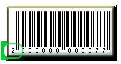Штрих код EAN-13 внутренний